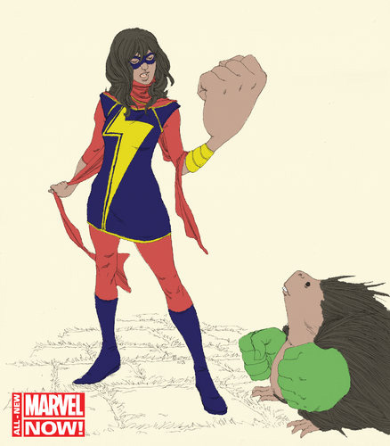 ms marvel hand Boycott MS. MARVEL! Screw Marvels PC Agenda! Say NO To Shape Shifters!