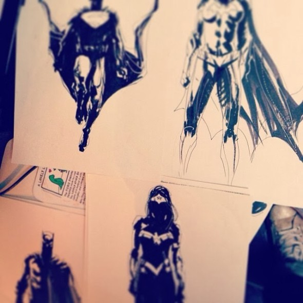 photo2 590x590 Concept Art By Jock Featuring Wonder Woman And Batgirl From BATMAN VS SUPERMAN?