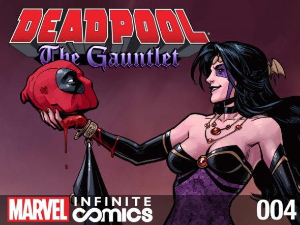 deadpool the gauntlet 4 cover 590x442 Meet DEADPOOLs Future Wife Shiklah