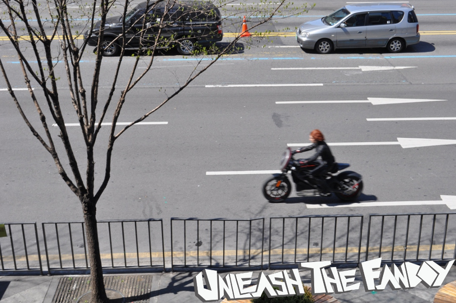 Avengers Age of Ultron Set Photos Black Widow 3 EXCLUSIVE:  Black Widow Photos On Seoul Set of AVENGERS: AGE OF ULTRON